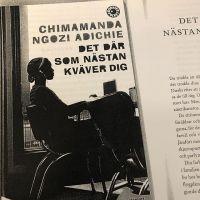Quando no curso de sueco você lê uma escritora africana. Maravilhoso, texto lindo, estou amando. #partiusuecia #jagälskarsverige